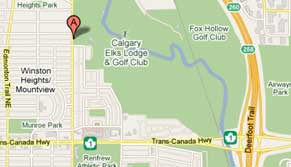 Small map of Elks golf course location