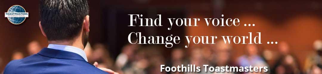 Foothills Toastmasters header image